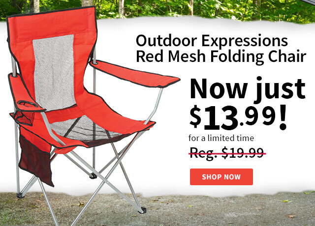 Outdoor Expressions Mesh Folding Chair