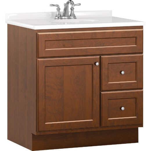 Bertch Northbrook 30 In. W x 34-1/2 In. H x 21 In. D Dawn Vanity Base, 2 Door/2 Drawer
