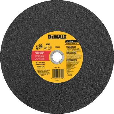 DeWalt HP Type 1 12 In. x 1/8 In. x 20 mm Metal Cut-Off Wheel
