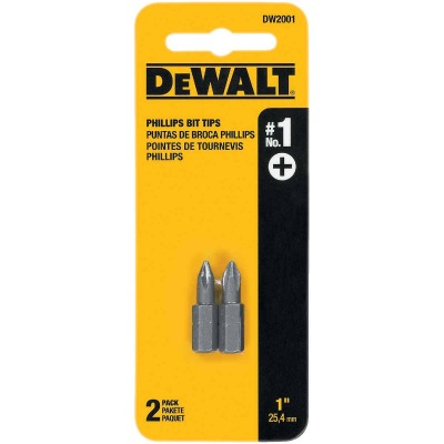 DeWalt Phillips #1 1 In. Insert Screwdriver Bit