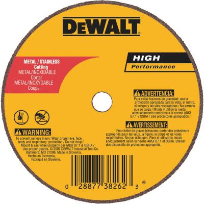 DeWalt HP Type 1 3 In. x 1/16 In. x 3/8 In. Metal/Stainless Cut-Off Wheel