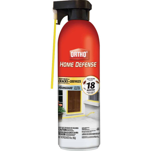 Ortho Home Defense 16 Oz. Ready To Use Aerosol Spray Foam Cracks & Crevices Insect Killer