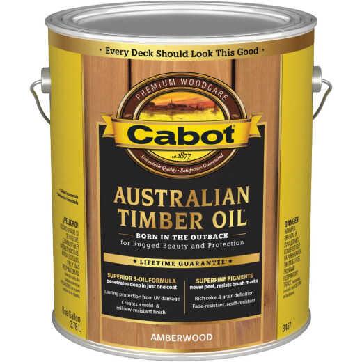 Cabot Australian Timber Oil Translucent Exterior Oil Finish, Amberwood, 1 Gal.