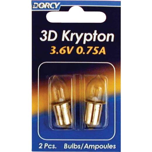 Dorcy 3D Krypton 3.6V Flashlight Bulb (2-Pack)